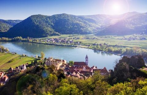 Durnstein på Donau.