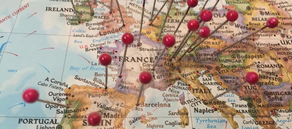 Lad dig inspirere til den næste knappenål i dit rejsekort.
