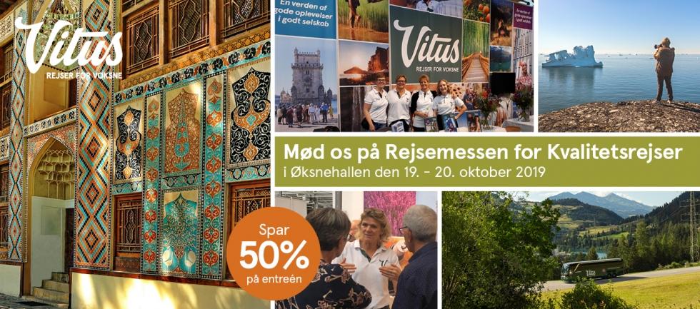 Mød Vitus Rejser på Rejsemessen for Kvalitetsrejser - 2019