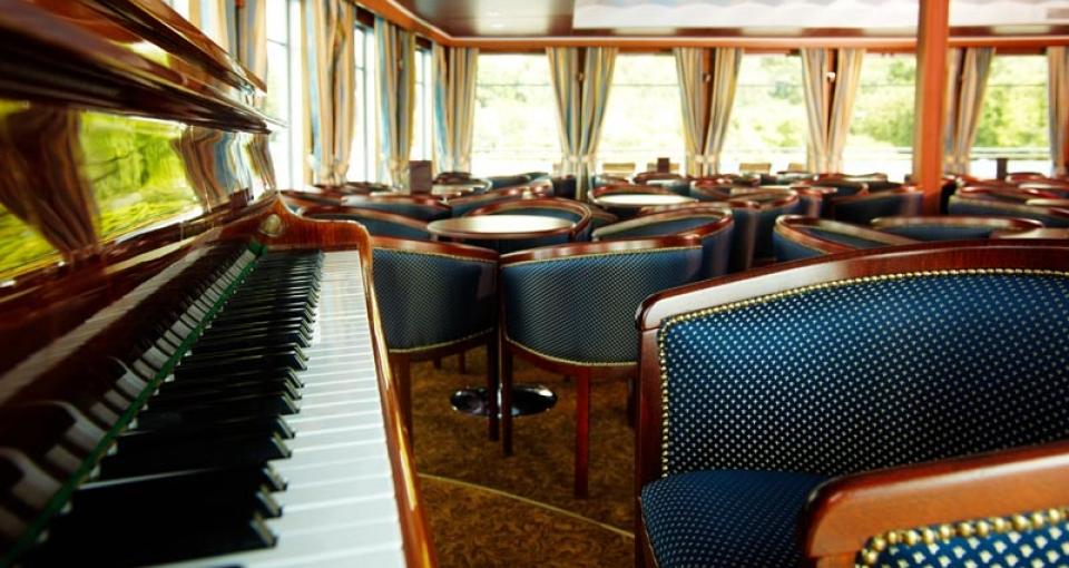 Loungen på MS Andrei Rublev.