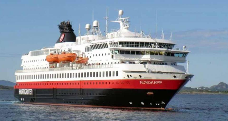 Det flotte skib MS Nordkapp.