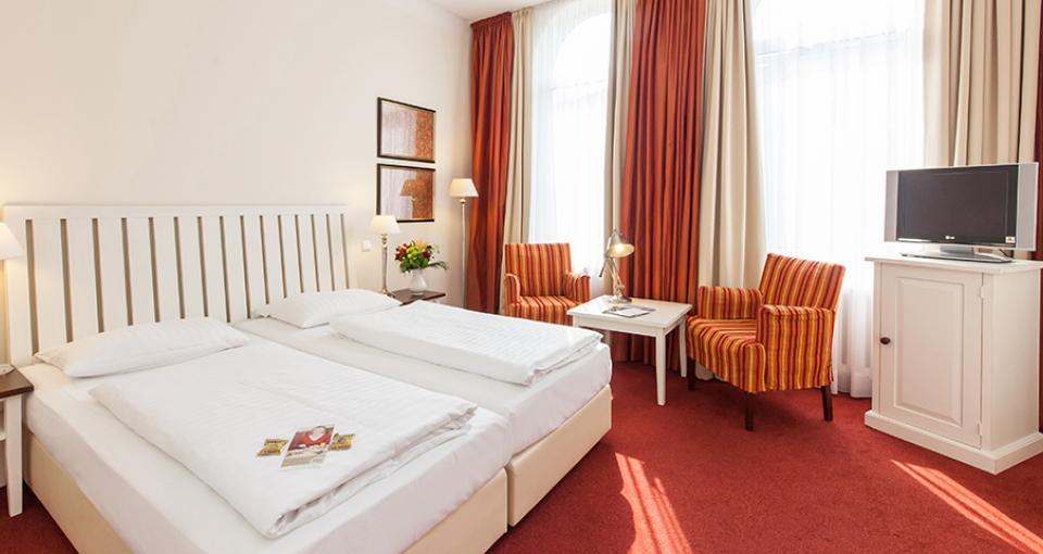 Eksempel på dobbeltværelse på Novum Hotel Bremer Haus.