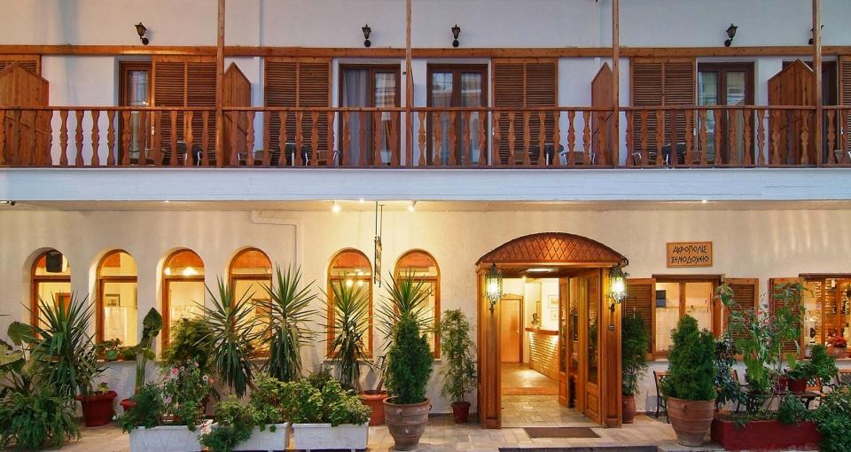 Indgangen til Hotel Arcolole.