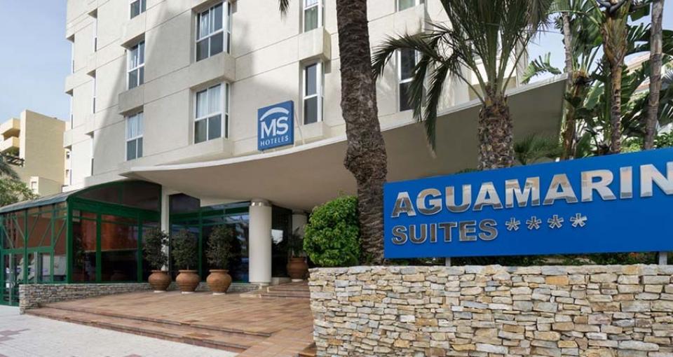 Indgangen til MS Aguamarina Suites.