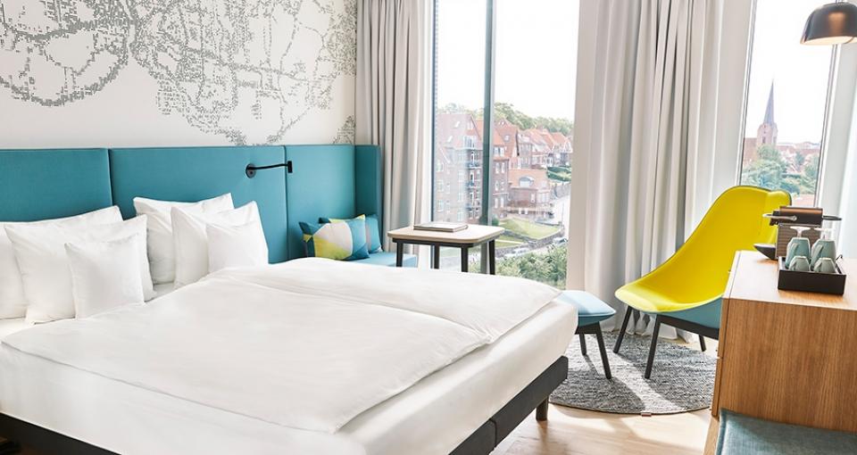 Eksempel på standard dobbeltværelse på Alsik Hotel & Spa.