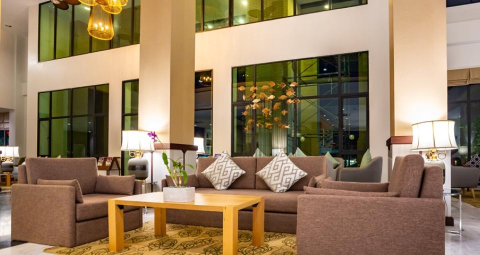 Lobby på Amari Hotel VangVieng.