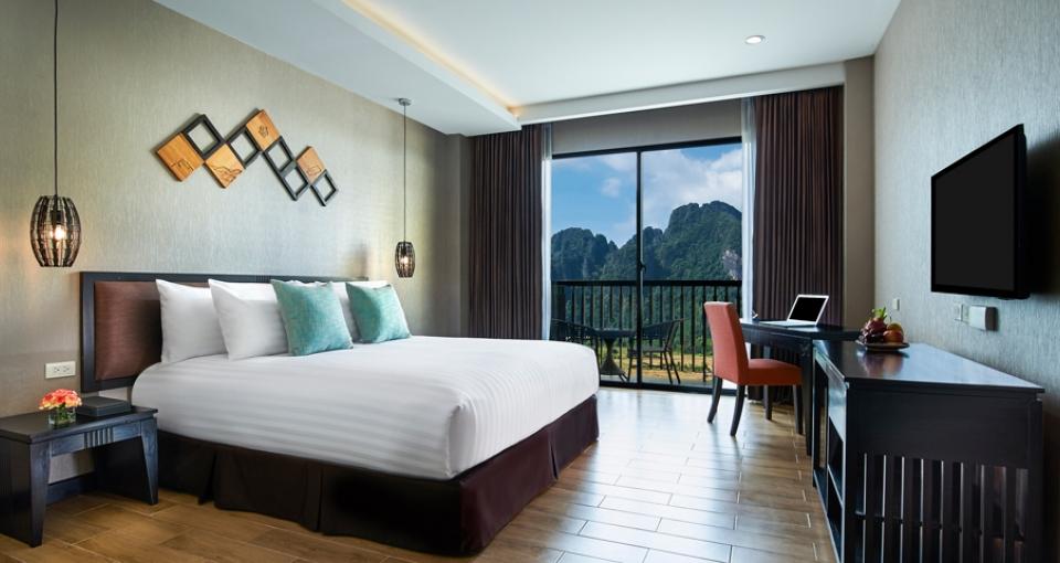 Superior King værelse på Amari Hotel VangVieng.
