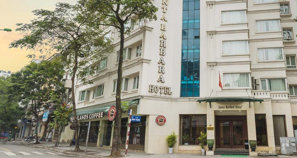 Santa Barbara hotel ligger centralt i Hanoi.