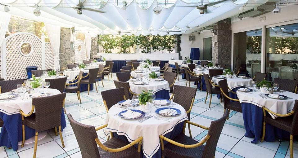 Restauranten på Central Park Hotel Terme.