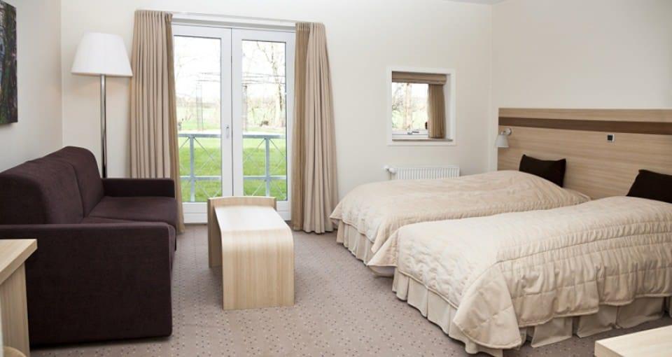 Hotel Sabro Kro - eksempel på dobbeltværelse.