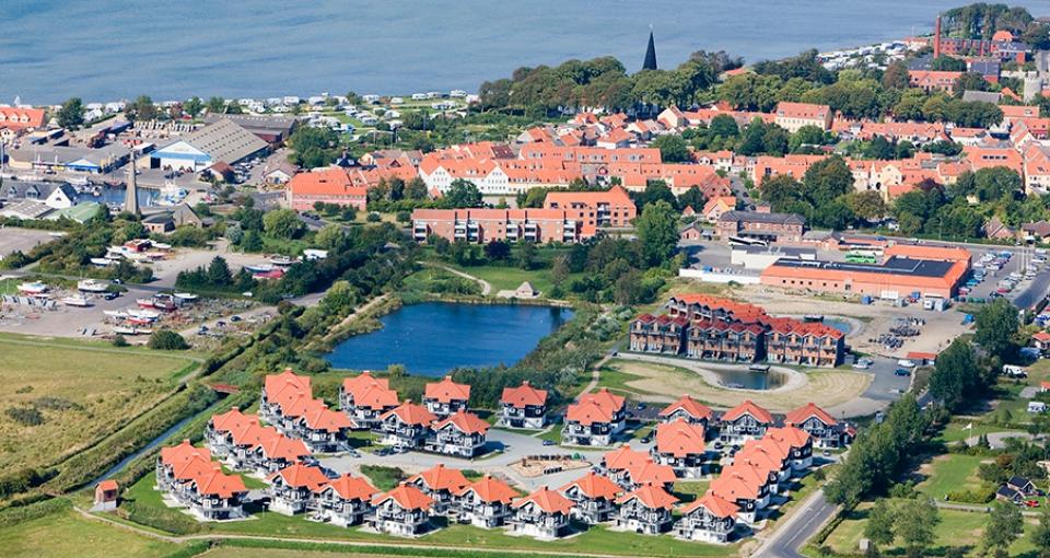 Panorama over Bogense Strand Feriecenter.