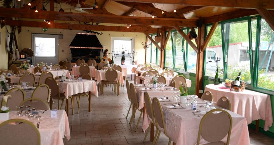 Restauranten på Hotel Auberge Champenoise.