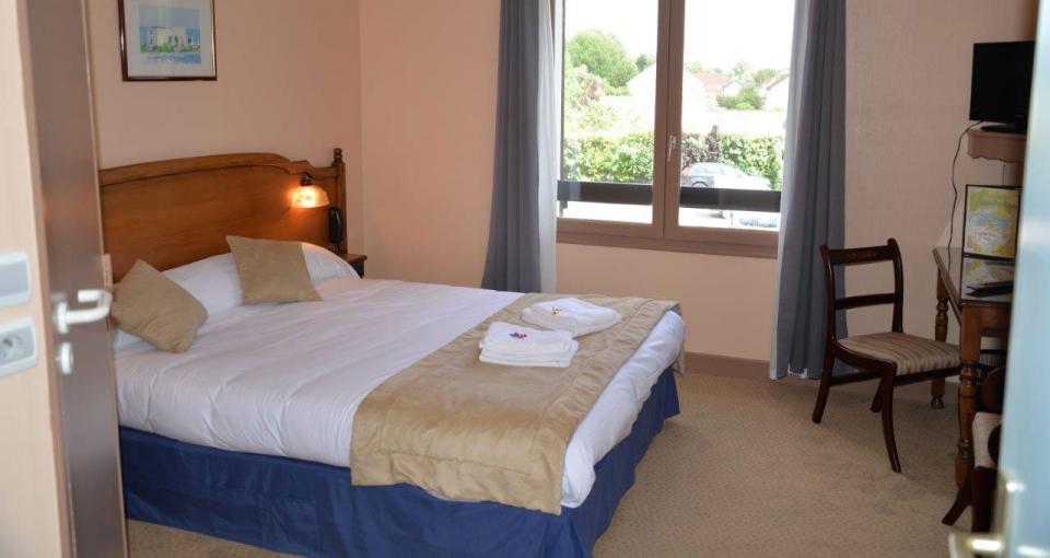 Værelse på Hotel Auberge Champenoise.