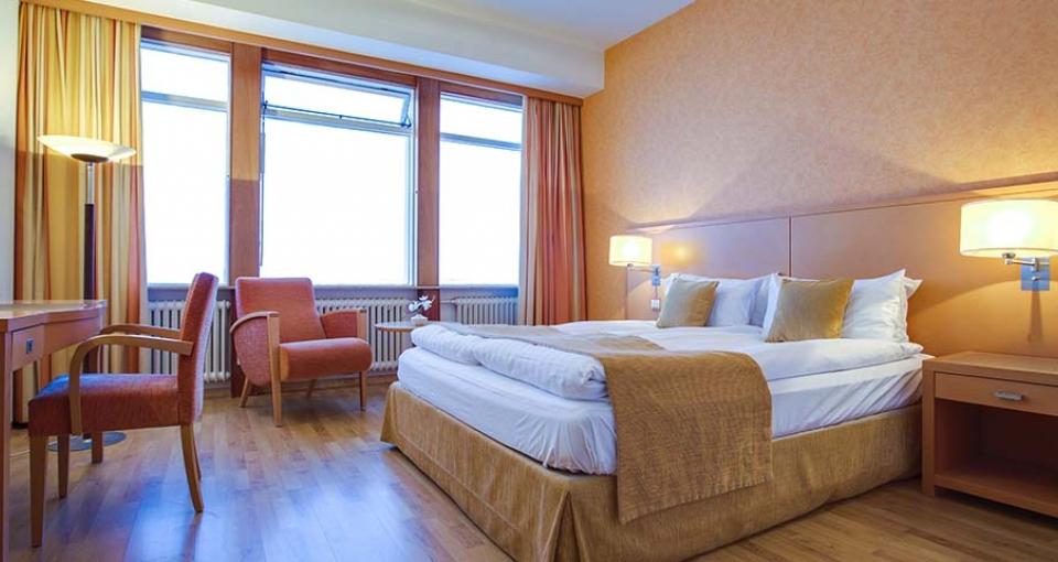Eksempel på superior dobbeltværelse på Grand Hotel Reykjavik.