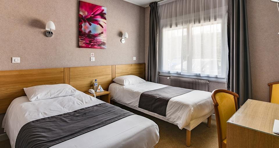 Eksempel på dobbeltværelse på Hotel Au Grand Saint Jean.