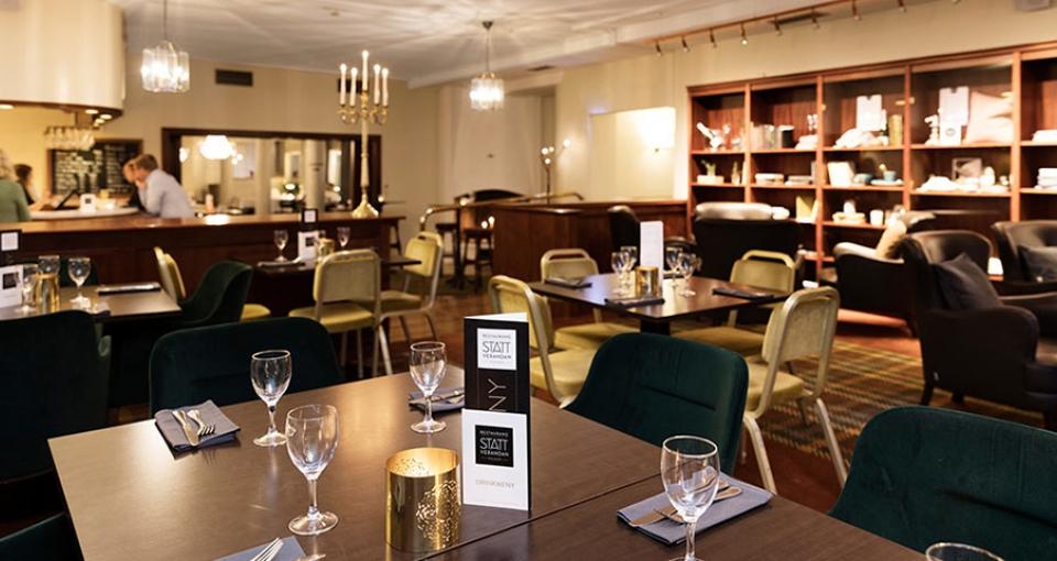 Restauranten på Calmar Stadshotel.