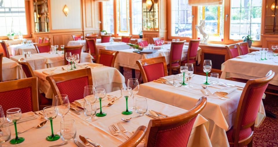 Restauranten i Hotel Cheval Blanc.