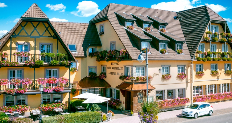 Det hyggelige Hotel Cheval Blanc.