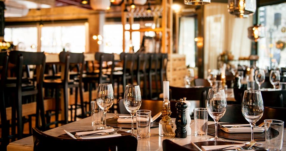 Restauranten i  Clarion Amaranten.