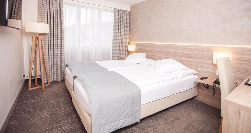Eksempel på dobbeltværelse på Hotel de Chailly-Sur-Montreux.