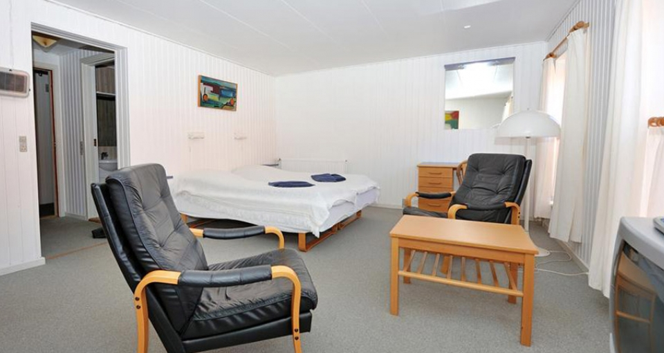 Eksempel på dobbeltværelse på Hotel Gudhjem.