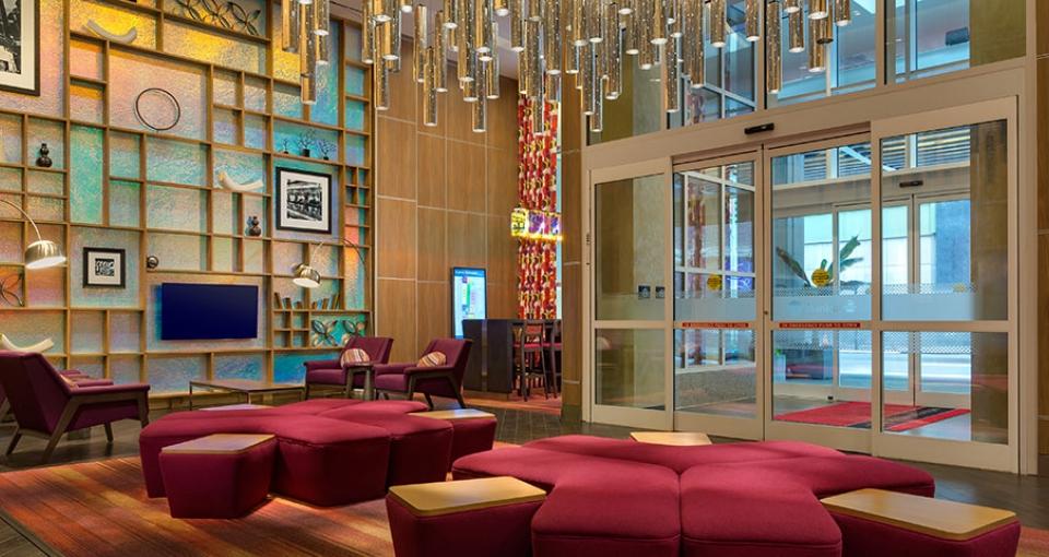 Lobbyen på Hampton Inn Manhatten.