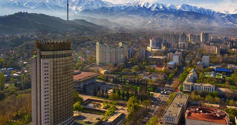 Hotel Kasakhstan er landets første skyskraber.