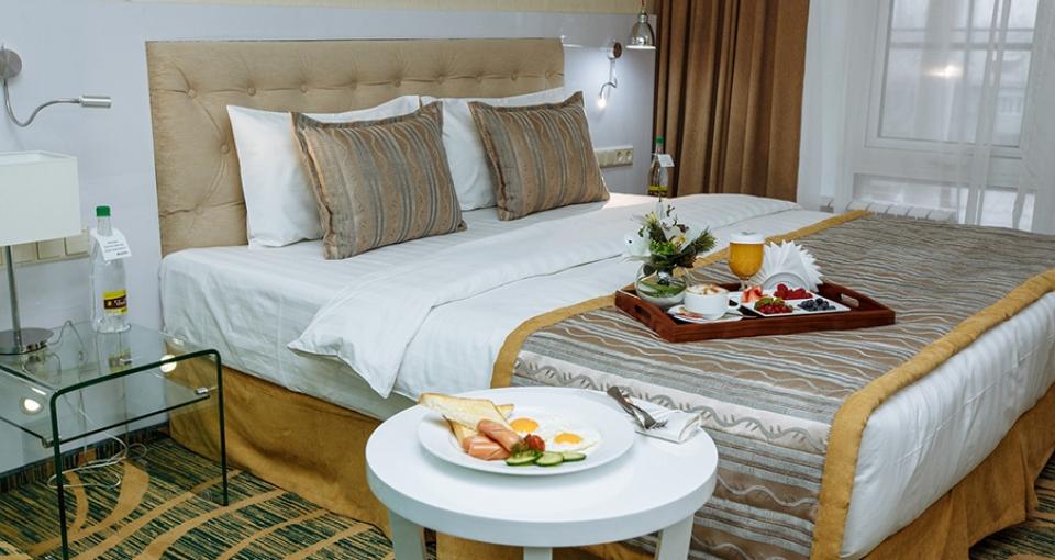 Standardværelse på Hotel Kazzol.