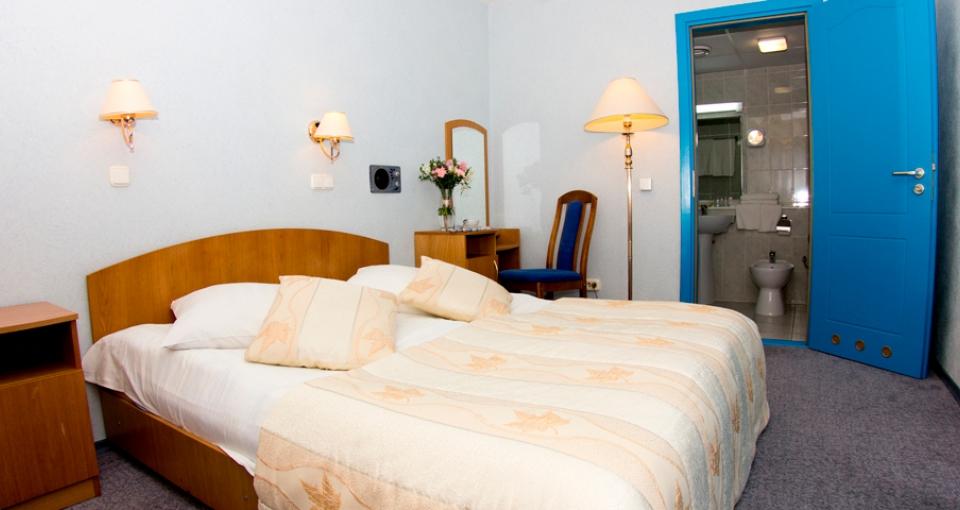 Værelse på Hotel Luchesa.