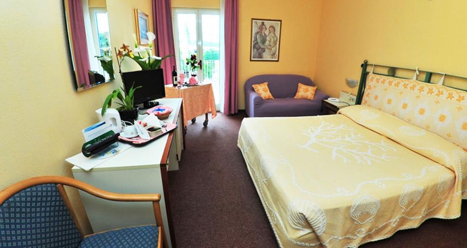 Eksempel på dobbeltværelse på Hotel Majore.