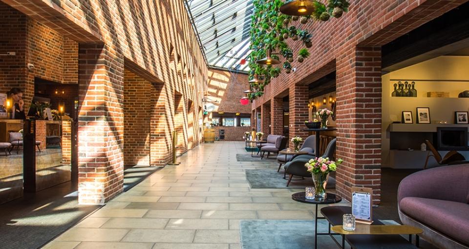 Receptionen på Comwell H. C. Andersen Hotel i Odense.