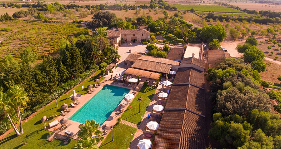 Luftfoto af de smukke hotel.