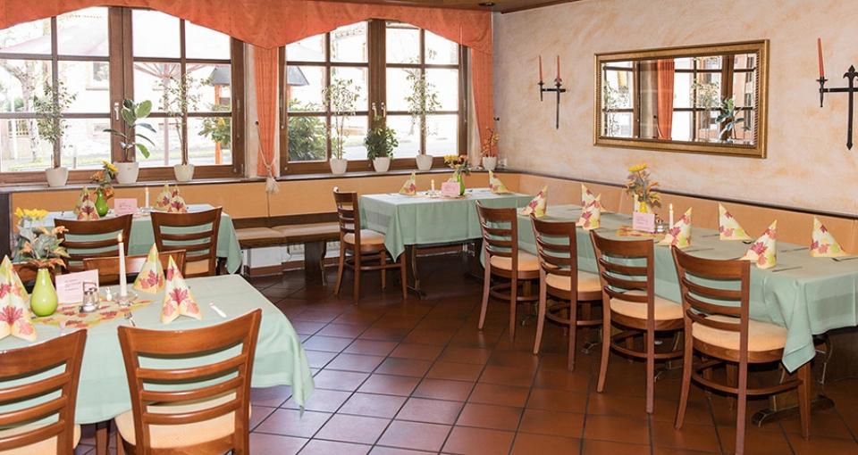 Restaurant på Hotel Zum Schwalbennest.