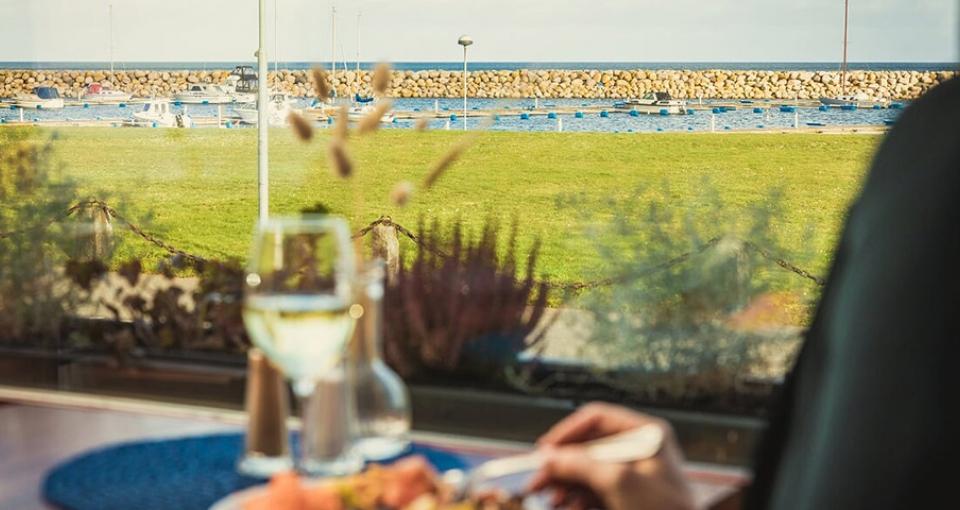 Udsigten fra restauranten på Hotel Svea.