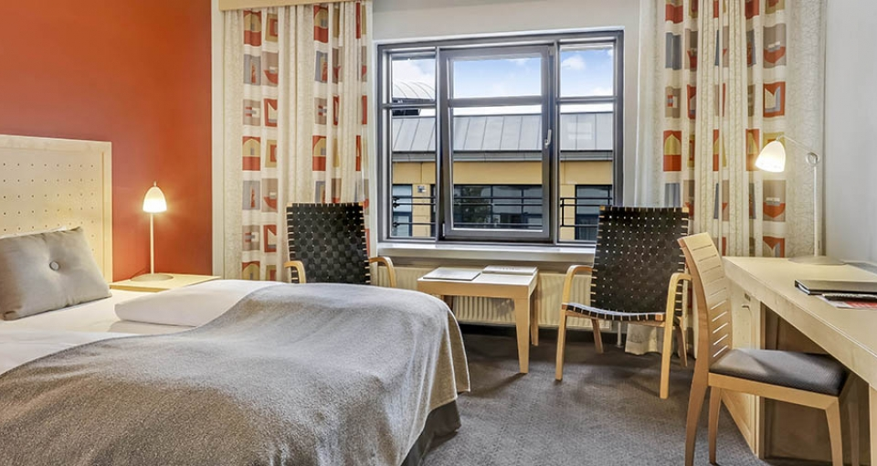 Eksempel på dobbeltværelse på Best Western Plus Hotel Svendborg.