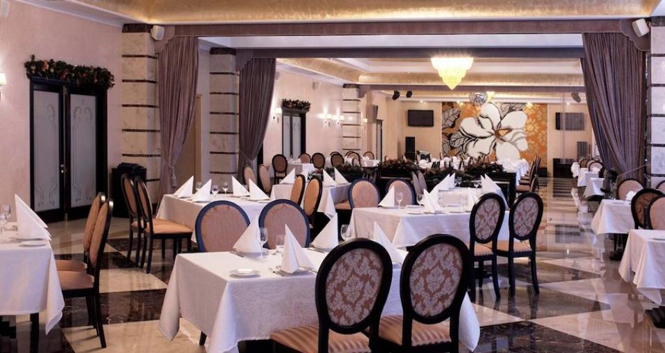 Restauranten på Hotel Ukraine.