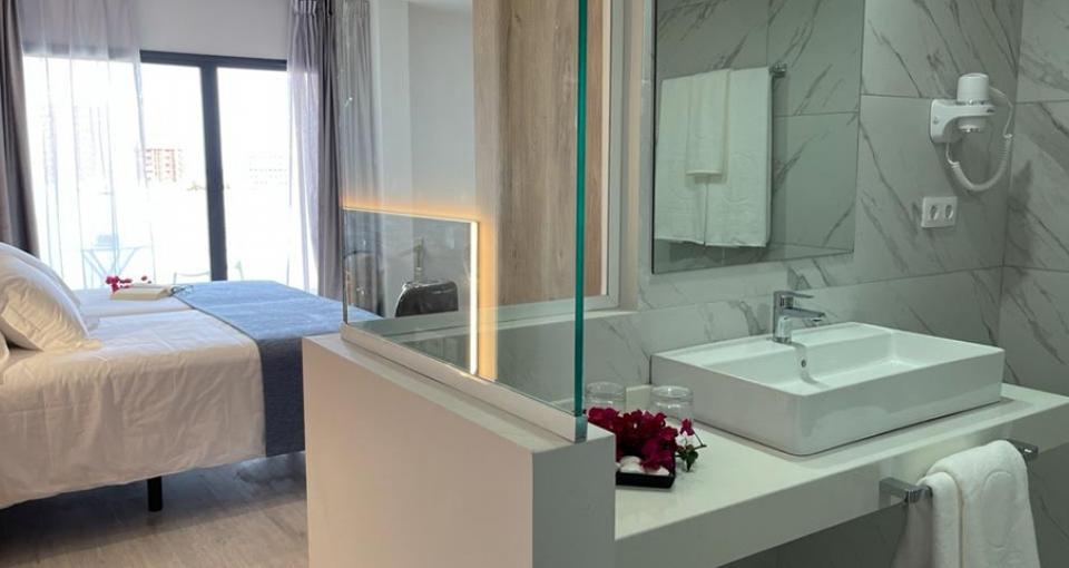 Eksempel på dobbeltværelse på Hotel Valle Orotava.