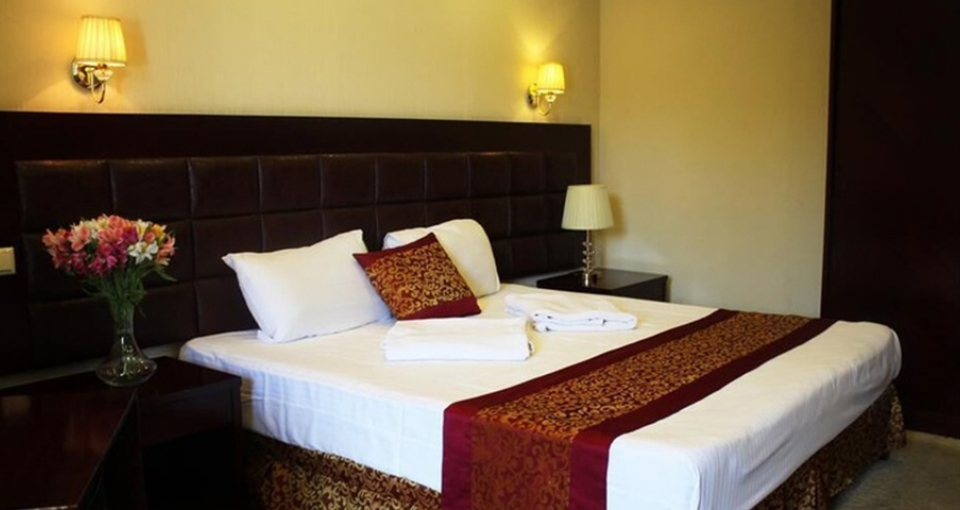 Eksempel på dobbeltværelse på Velvet Hotel i Tbilisi.