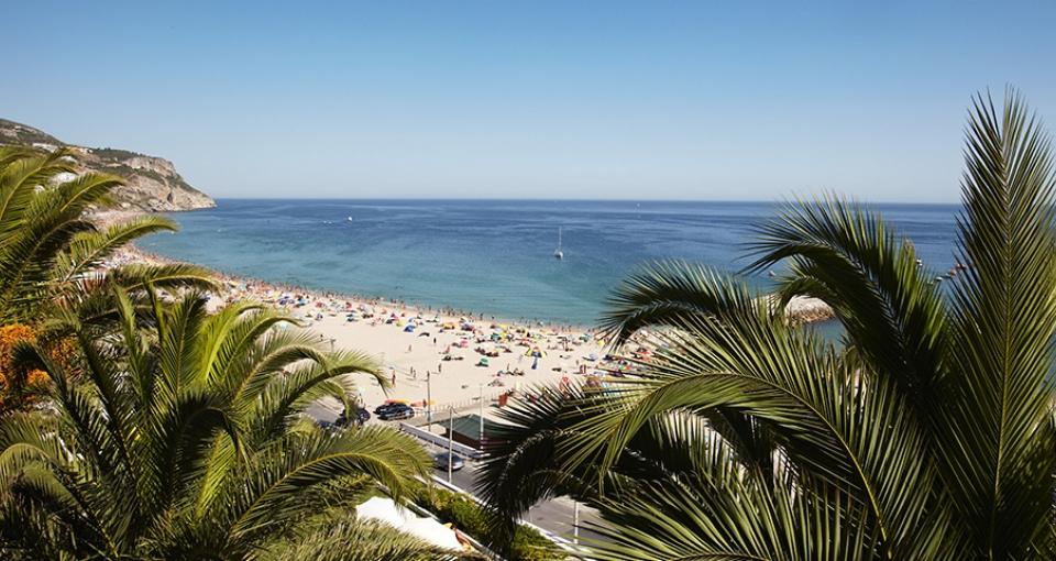 Udsigt til standpromenaden fra Hotel do Mar.