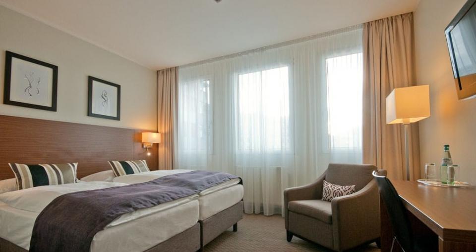 Eksempel på dobbeltværelse på Hotel Sylter Hof.