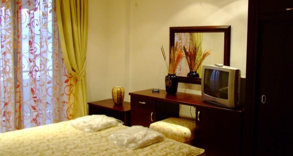 Eksempel på standardværelse på Hotel Tino.