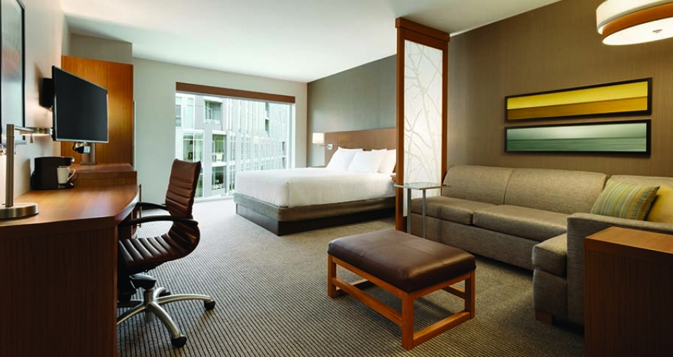 Eksempel på standardværelse på Hyatt Place Washington D.C.