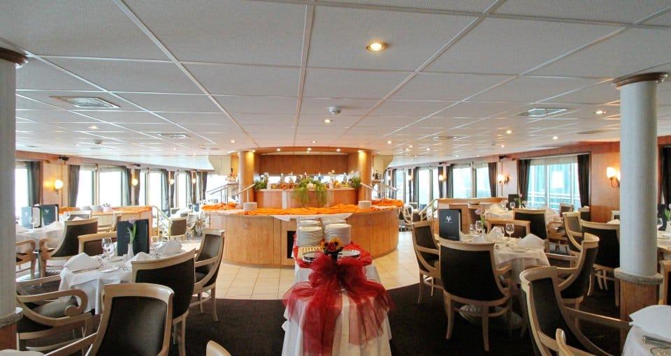 Restauranten på MS River Navigator.