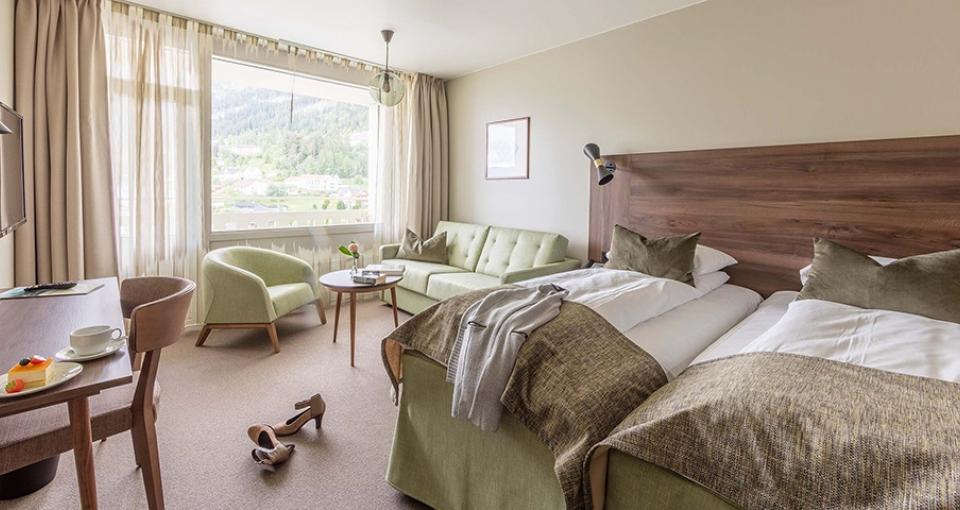 Eksempel på dobbeltværelse på Hotel Kviknes.