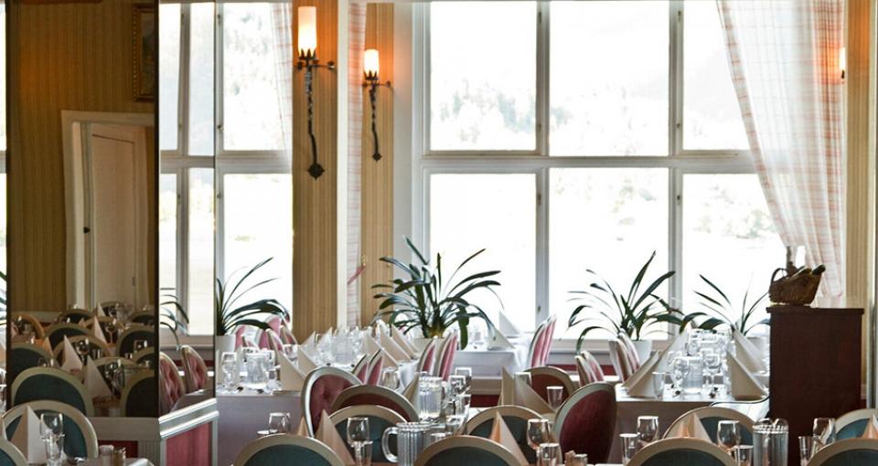 Restauranten på Hotel Kviknes.