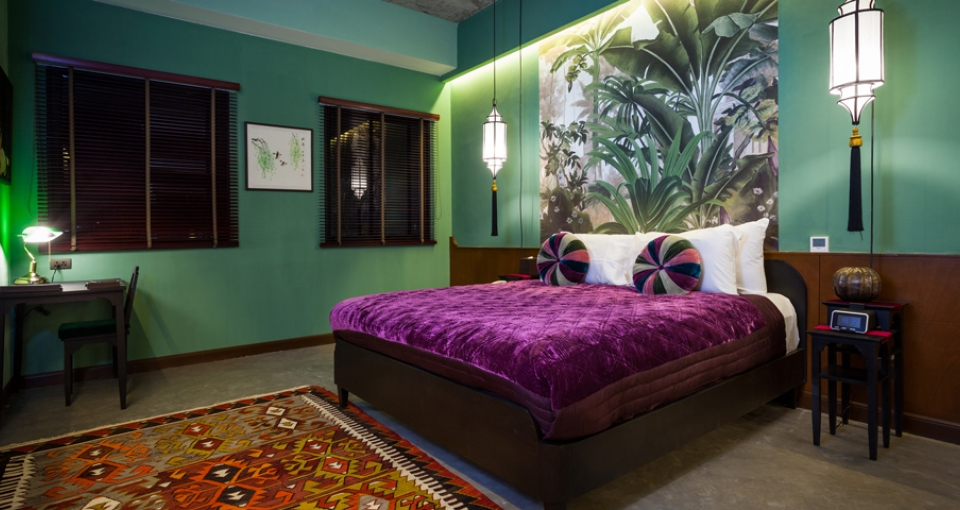 Standardværelse på Lao Poet Hotel.