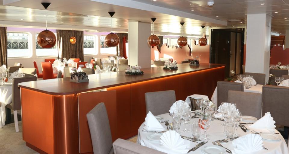 Restauranten på MS Loire Princesse.
