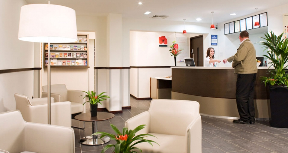 Lobbyen på hotel Ibis York Centre.