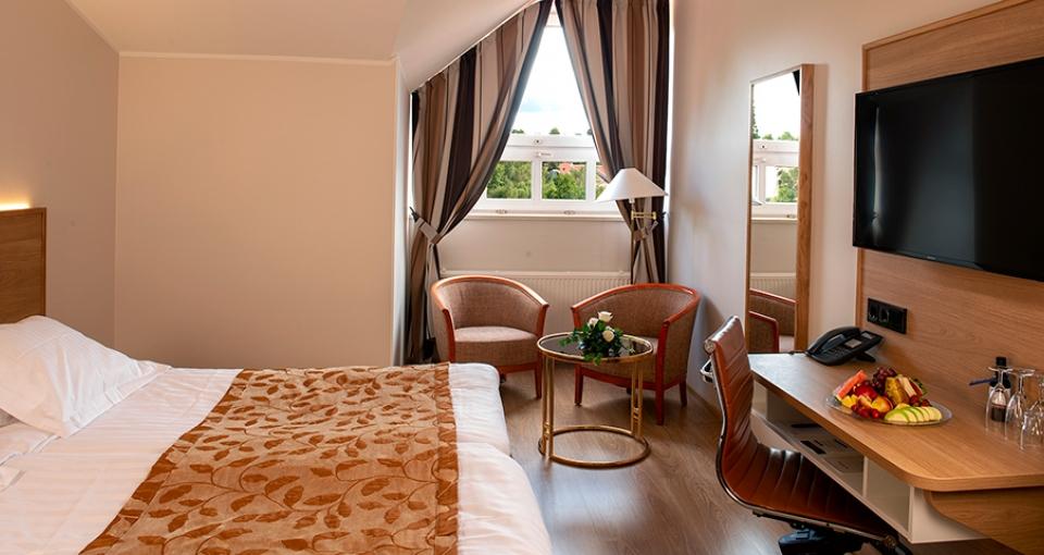 Standardværelse på Naantali Spa Hotel.