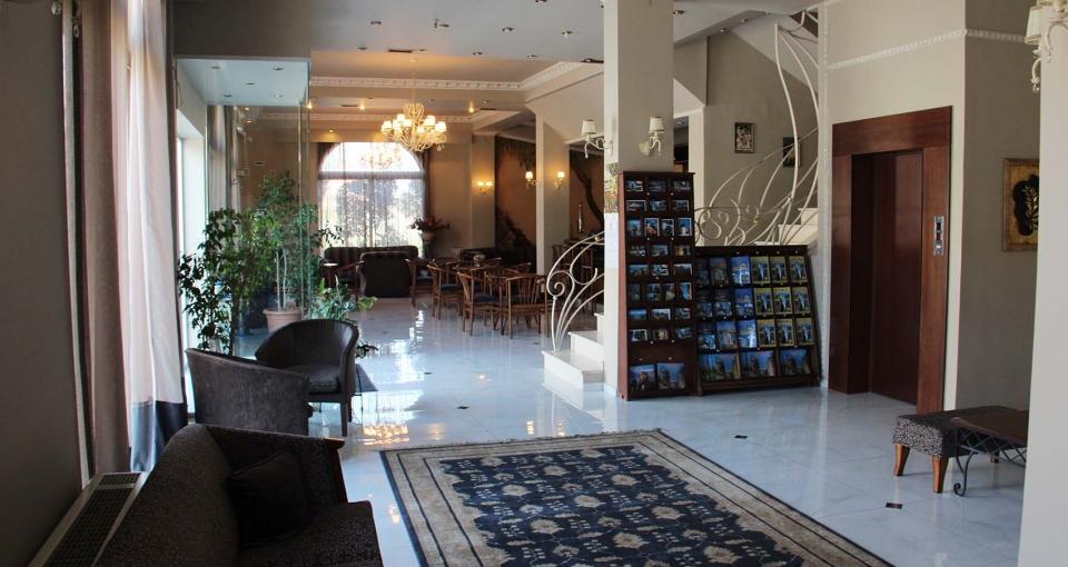 Receptionen på Hotel Orfeas.